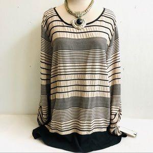 NWT Textured Stripe Tunic Top